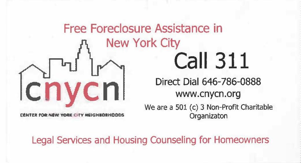 CNYCN Foreclosure Assistance