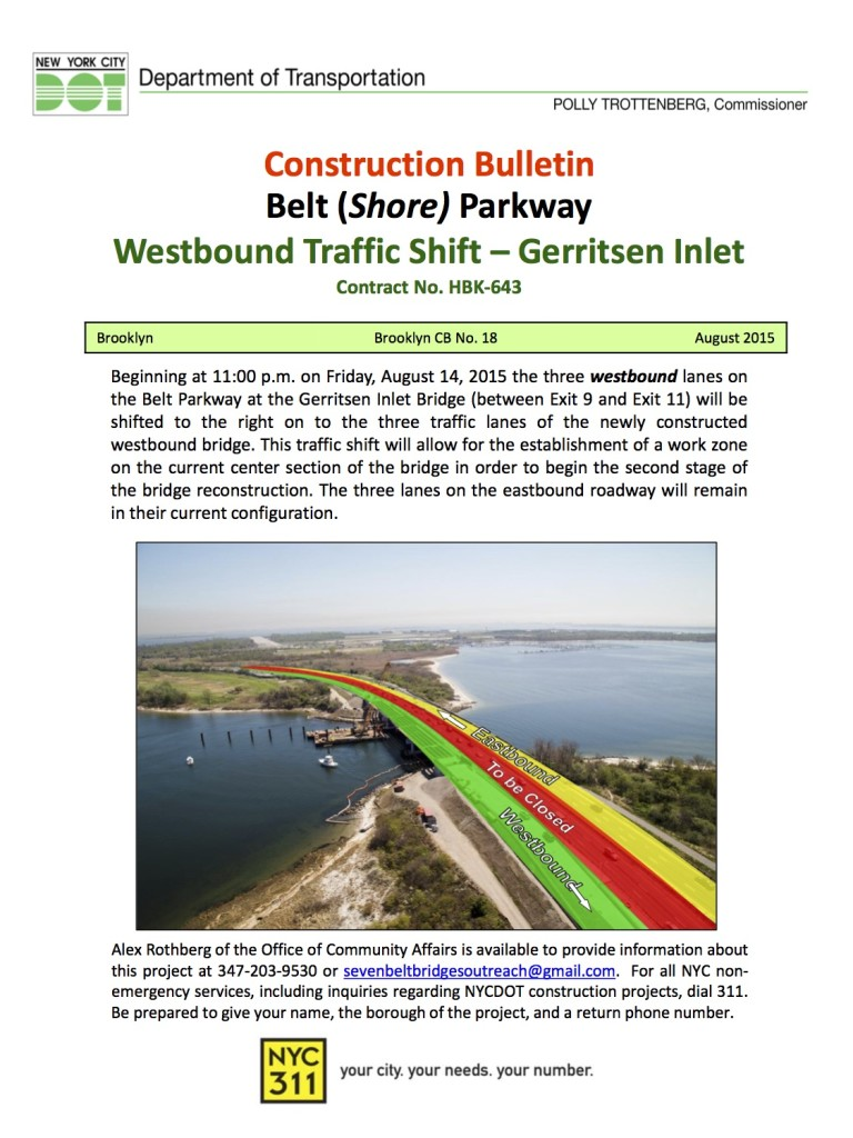 Gerrritsen Inlet Bridge_Traffic Shift_August 2015
