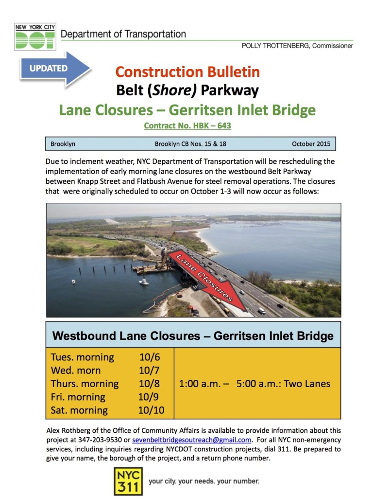UPDATED - Gerritsen Lane Closures 10_15