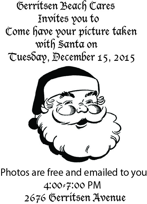 flyer for Santa pix 2015